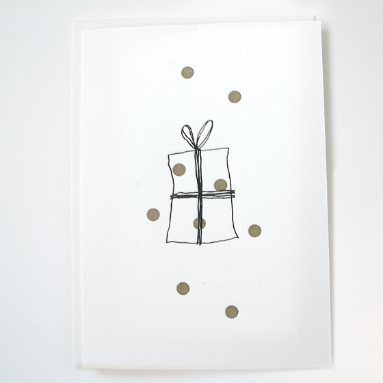 Image of GOLDIE 'PRESSIE' - LETTERPRESS CHRISTMAS CARD