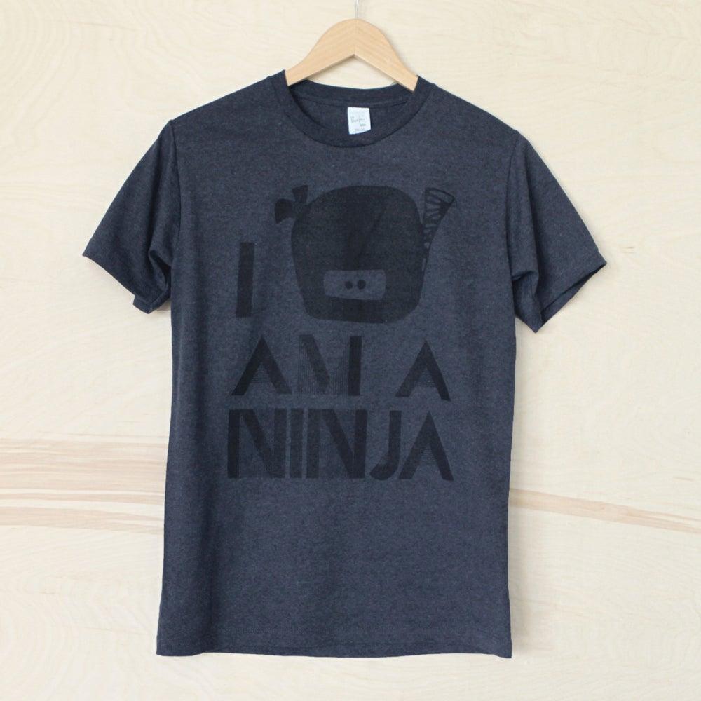 "Image of ""I Am A Ninja"" Tee (Tri-Midnight)"