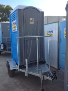 Image of New single toilet with second hand trailer (price includes GST)