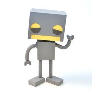 ROBOT collectible toy - Robot Art by Matt Q. Spangler