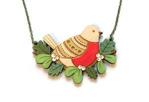 Image of Winter Robin Necklace