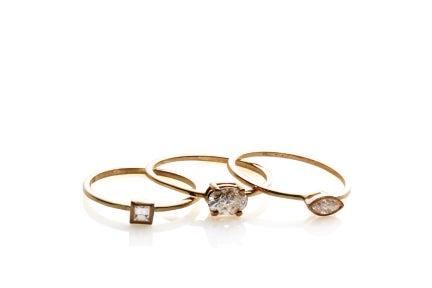 Image of SQUARE DIAMOND RING