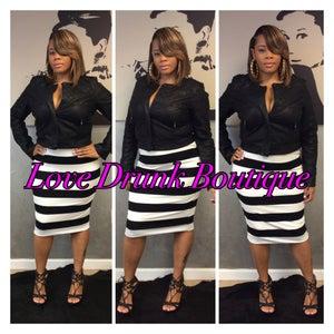 """Image of """"Striped Diva"""" Skirt"""