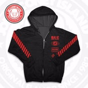 Image of JCI Sport Black/Red Zip Hoodie