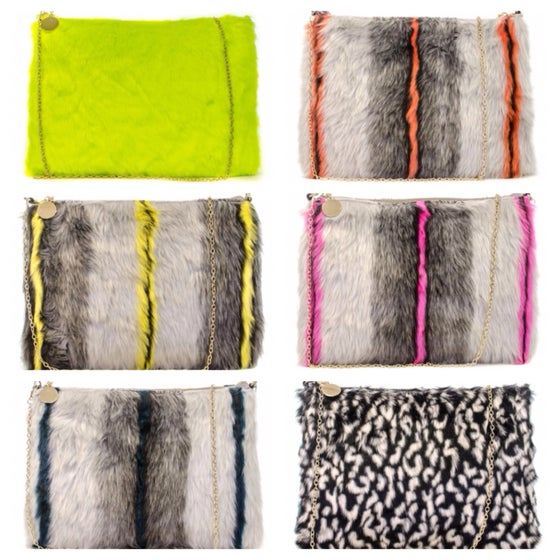 Image of Fur chain clutch
