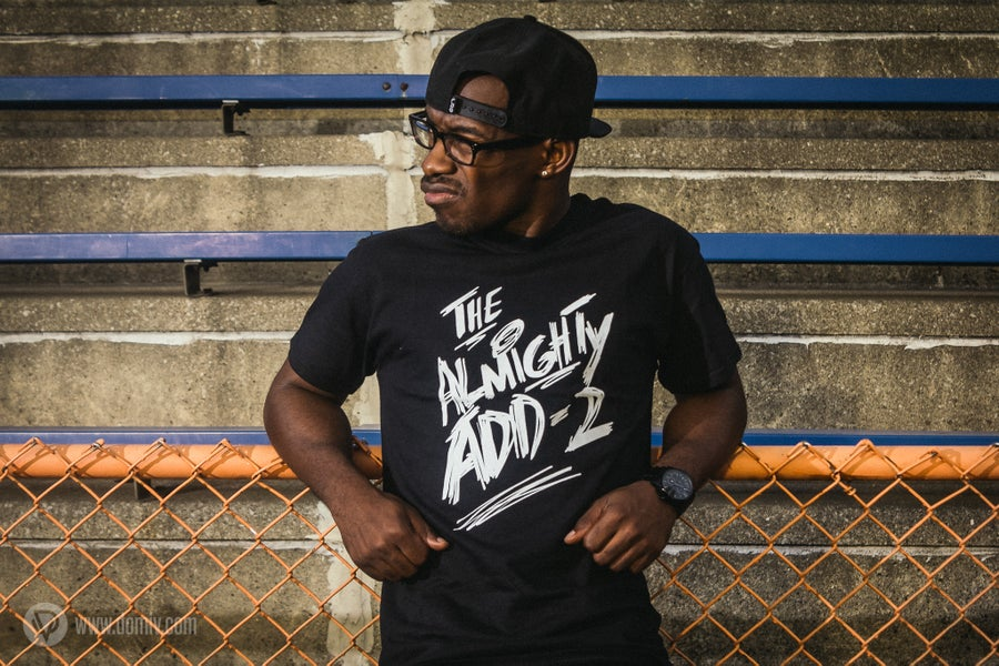 """Image of """"Almighty Add-2"""" T-Shirt (BLACK)"""