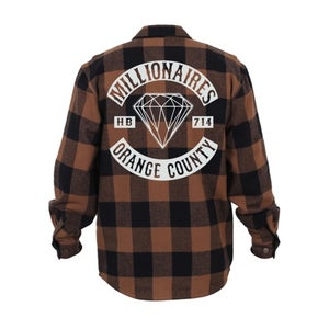 """Image of Millionaires Brown """"Club"""" Flannel"""