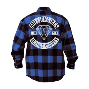 """Image of Millionaires Blue """"Club"""" Flannel"""