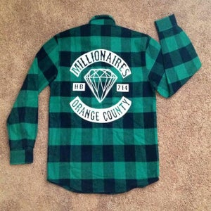"""Image of Millionaires Green """"Club"""" Flannel"""