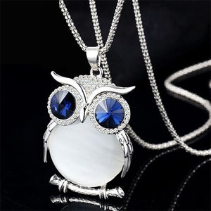 Image of [grxjy5100342]Fashion Sparkly Rhinestone Owl Pendant Necklace