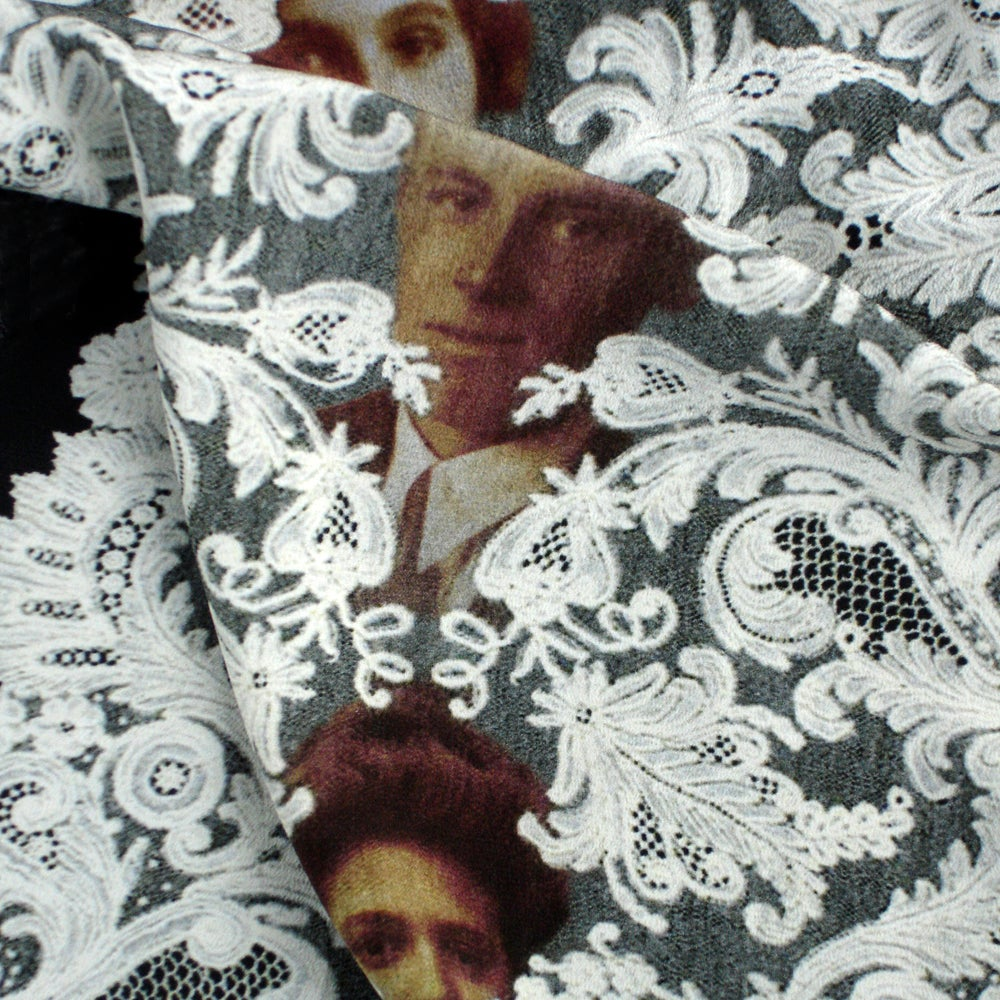 Image of Digitally printed silk scarf Family Secrets