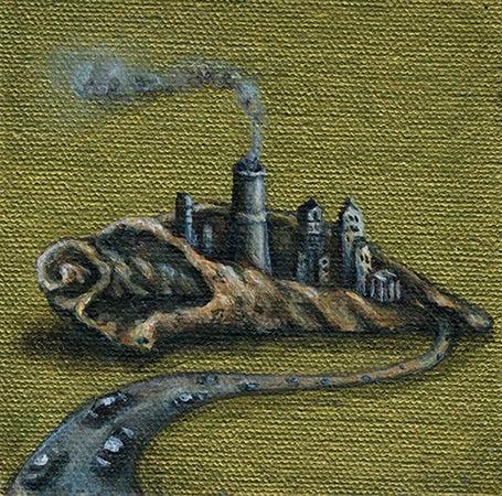 Image of Shell city - original mini painting