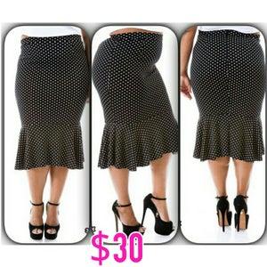 Image of Polka Dot Flare Bottom Skirt