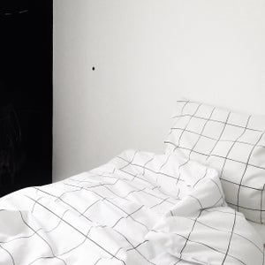 Image of Grid douvet cover + pilowcase