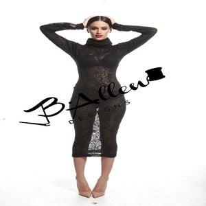 Image of Mona turtle neck dress