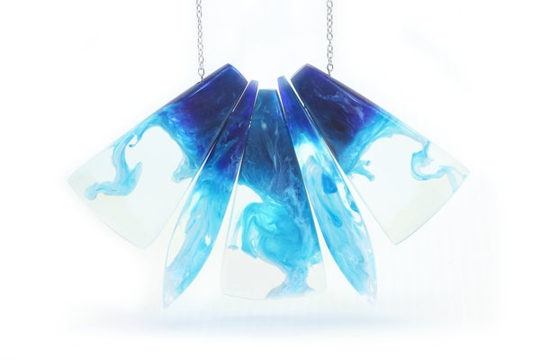 Image of Azure Swirl Necklace