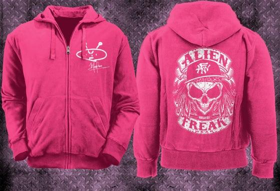 Image of AFW Skull Zip Hoodie Pink