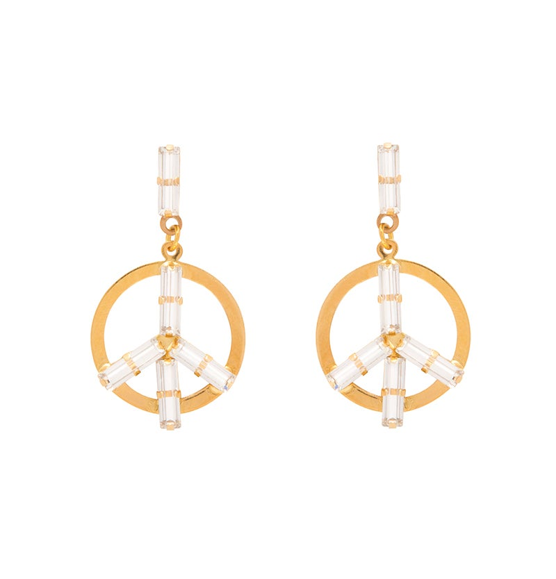 Image of Peace Earrings (Yellow Gold)