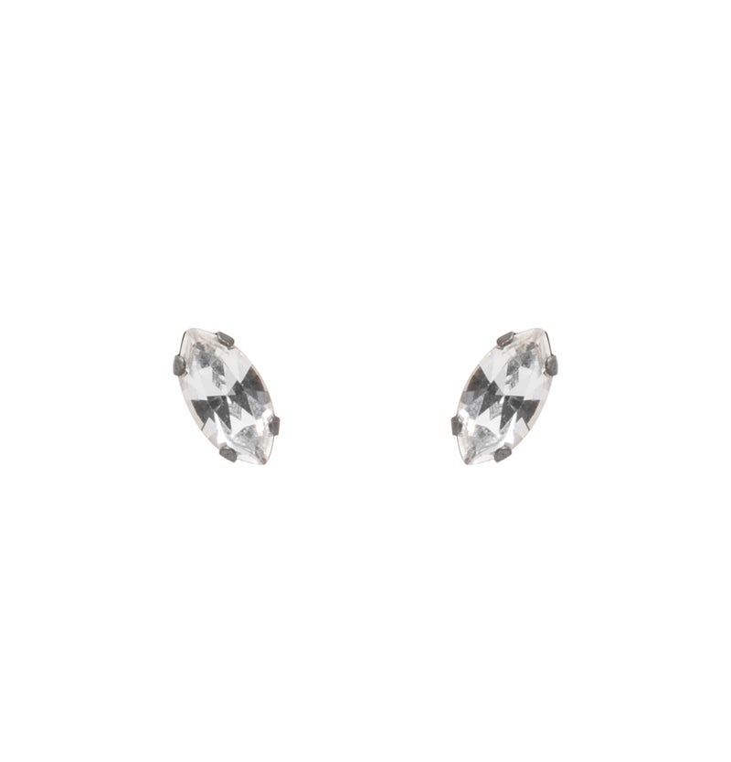 Image of Crystal Navette Studs
