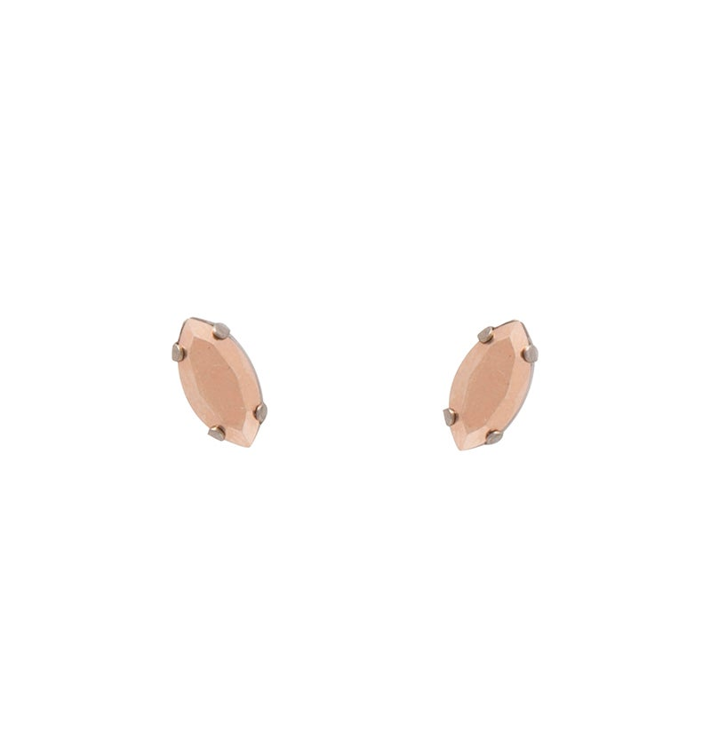 Image of Rose Navette Studs