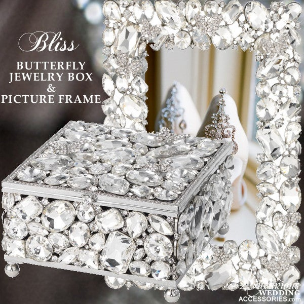 Image of Bliss Swarovski Crystal Butterfly Jewelry Box