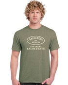 "Image of Baconfest Michigan ""Great Bacon State"" Mens Fit T-Shirt"
