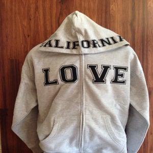 Image of Ladies - California Love Grey Zip up hoody