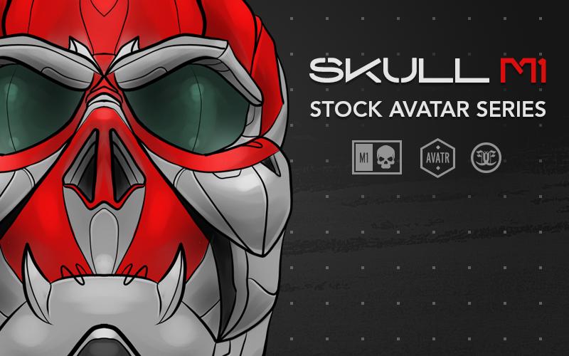 """Image of """"Skull M1"""" Stock Avatar Art"""