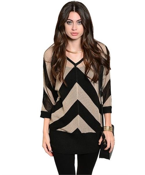 Image of Mocha black sweater
