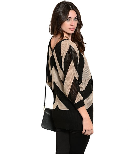 Image of Mocha black sweater