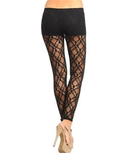 Image of Black lace leggins