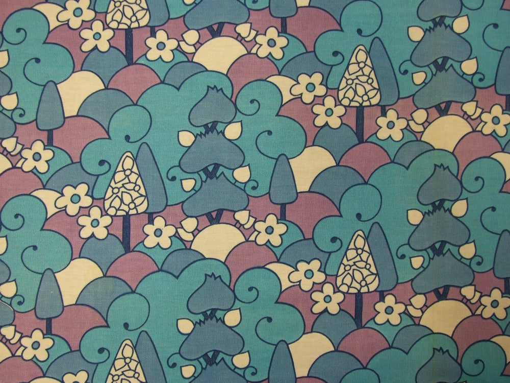 Image of Blue trees fabric - fat quarter