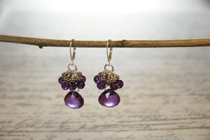 Image of Luscious Amethyst Drop Earrings