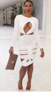 Image of Cut Bandage Dress