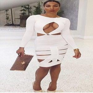 Image of Cut Bandage Dress