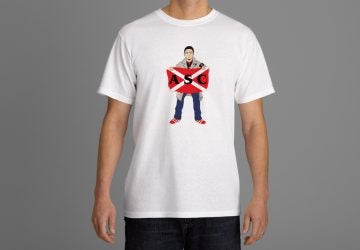 Image of Aberdeen ASC Football Hooligan/Casual With Flag T-Shirt.