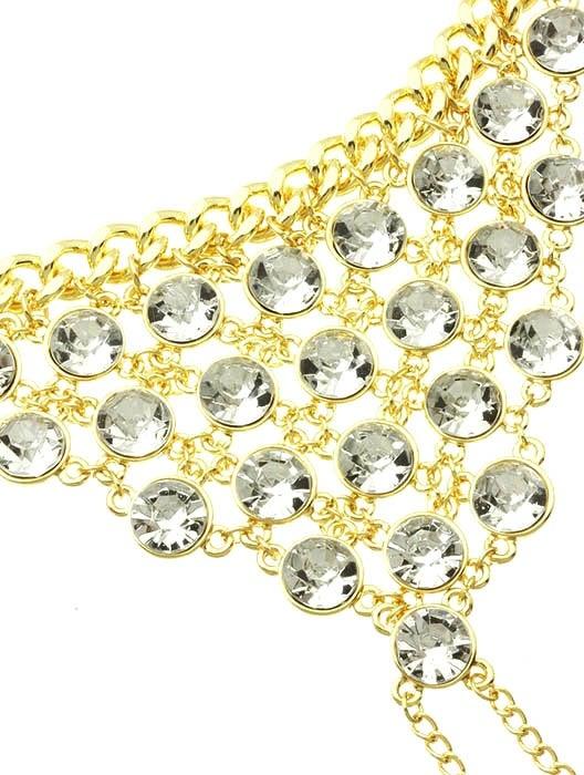 Image of Mosaic Crystal Hand Bracelet