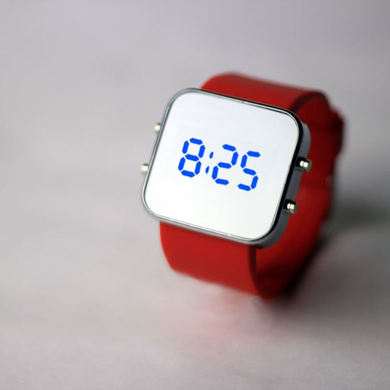 Image of Red Silicon Watch