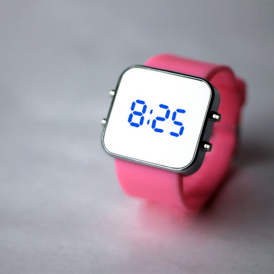 Image of Pink Silicon Watch
