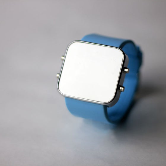Image of Blue Silicon Watch