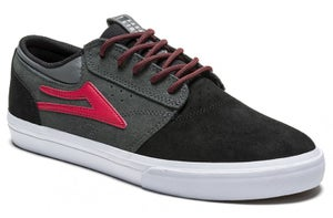 Image of Lakai Ltd. Griffin X Chocolate Skateboards 20-Year Shoes - Black / Grey / Suede