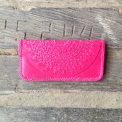 Image of Mandala Leather Clutch (Pink)
