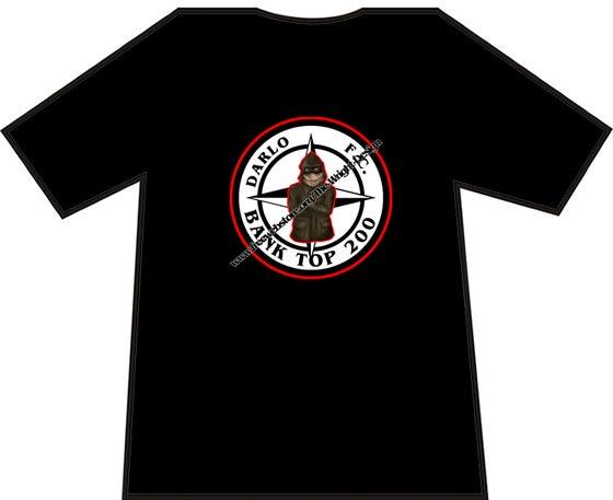 Image of Darlington, Darlo Bank Top 200 Casuals T-shirts. Ultras, Hooligans.