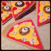 Image of incognito bear ornament // pizza 2014!