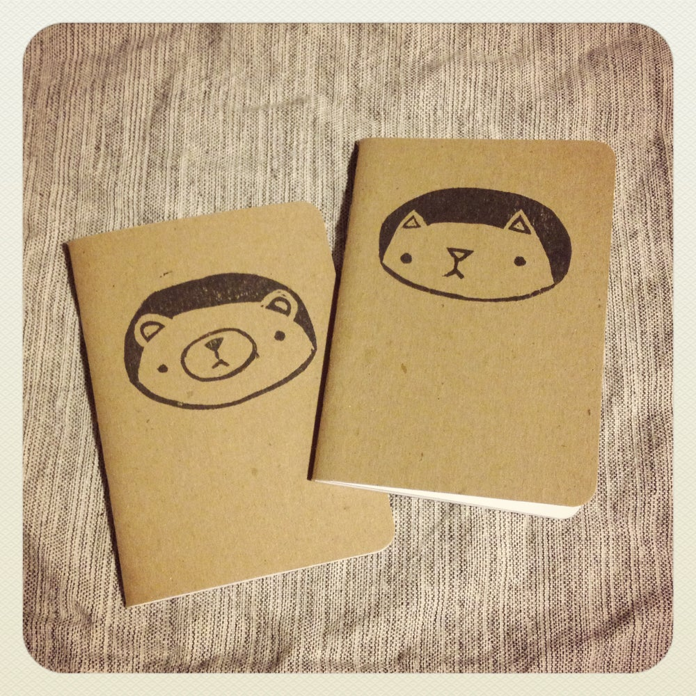 Image of hand-printed pocket notebooks