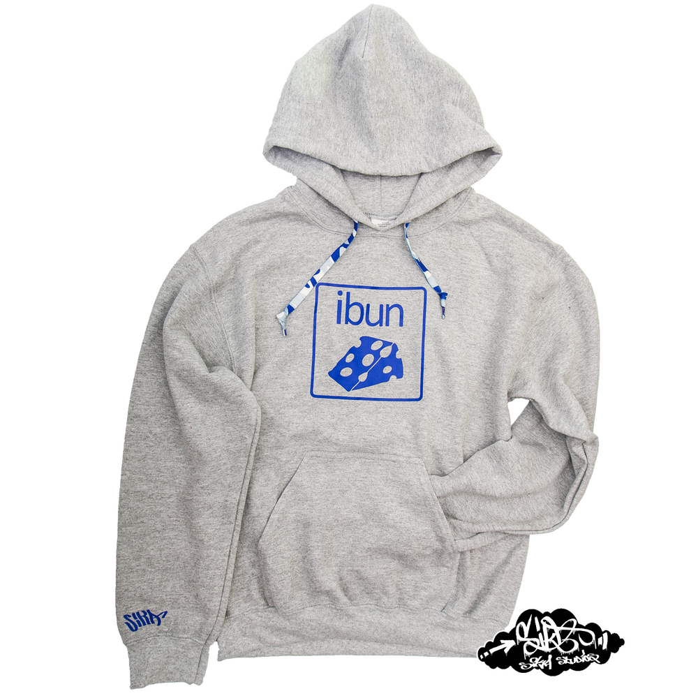 Image of ((SIKA x ibun)) blue cheese hooded sweater with matching camo draw string. BACK IN STOCK!