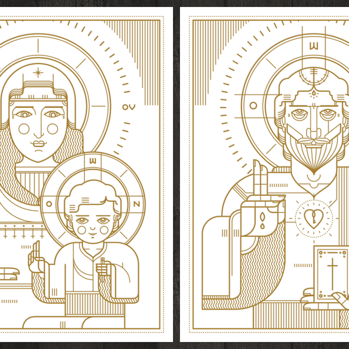 Image of Orthodox Christ & Virgin with Child Prints Presale