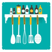 Image of A Place For Everything Kitchen Print - Spices & Utensils - NEW!