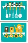 Image of Kitchen Art Print Set - Coffee & Spice Rack Prints