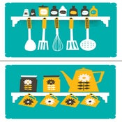 Image of Kitchen Art Print Set - Coffee & Spice Rack Prints